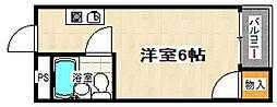 三興レジデンス[203号室]の間取り