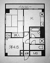 ポートサイド戸部[4階]の間取り
