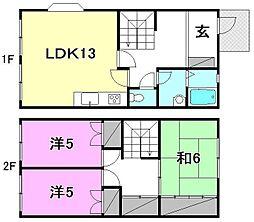[テラスハウス] 愛媛県松山市正円寺3丁目 の賃貸【/】の間取り