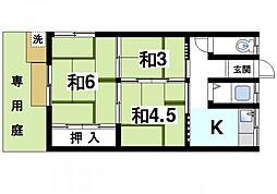 [テラスハウス] 奈良県奈良市南京終町4丁目 の賃貸【/】の間取り
