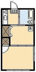 たけアパート[301号室]の間取り