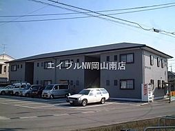 岡山県岡山市中区江並の賃貸アパートの外観