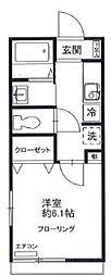 ハイツ・シンフォニー[2階]の間取り