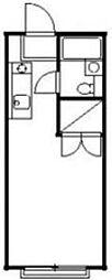 東京都板橋区大谷口1丁目の賃貸アパートの間取り