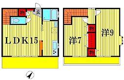 [一戸建] 千葉県松戸市古ヶ崎 の賃貸【千葉県 / 松戸市】の間取り