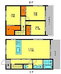 [タウンハウス] 福岡県春日市昇町5丁目 の賃貸【/】の間取り