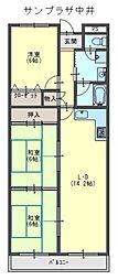 サンプラザ中井[2階]の間取り