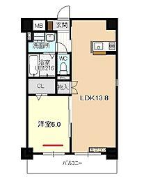 仮称)四軒家マンション[1階]の間取り