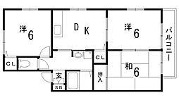 兵庫県神戸市中央区北野町4丁目の賃貸アパートの間取り
