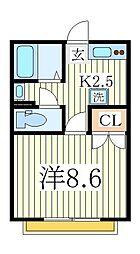 CREA流山[2階]の間取り
