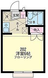 神奈川県川崎市川崎区境町の賃貸アパートの間取り