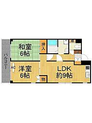 ルネッサンス武庫之荘[1階]の間取り
