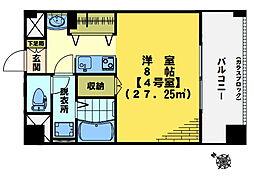 東中野エイトワンマンション[904号室]の間取り