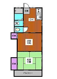 東京都板橋区西台3丁目の賃貸アパートの間取り