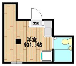 兵庫県神戸市中央区二宮町2丁目の賃貸アパートの間取り