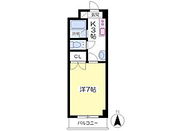 伊予鉄道横河原線 松山市駅 バス40分 宮の北下車 徒歩1分の賃貸マンション 2階1Kの間取り