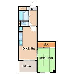 ひらこうパート1[4階]の間取り