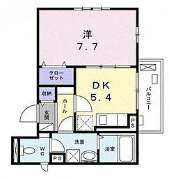 神奈川県横浜市鶴見区上末吉3丁目の賃貸アパートの間取り