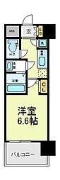 レジュールアッシュ天王寺PARKSIDE[9階]の間取り