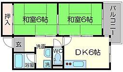 オークヒルズ北大阪[6階]の間取り