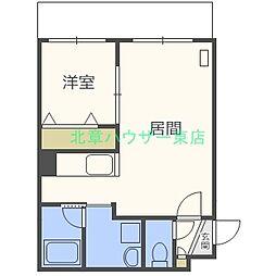 札幌市営東豊線 元町駅 徒歩11分の賃貸マンション 4階1LDKの間取り