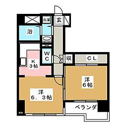 ベルソーレ支倉[4階]の間取り