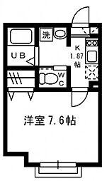 JR五日市線 秋川駅 徒歩3分の賃貸アパート 2階1Kの間取り
