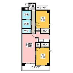 パストラーレ[4階]の間取り