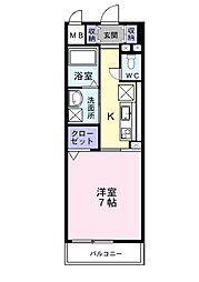 プレ・アビタシオン春日部I[1階]の間取り