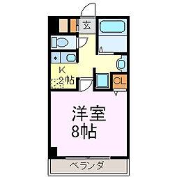 キャノンピア鶴舞[601号室]の間取り