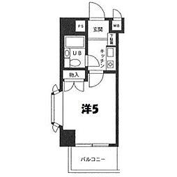 パレ・ドール鶴ケ峰[201号室]の間取り