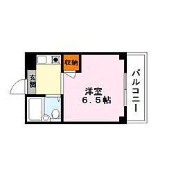 ペット可エースマンション[3階]の間取り