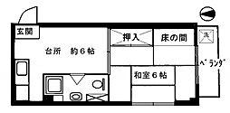 東京都豊島区上池袋4丁目の賃貸マンションの間取り