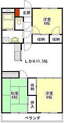 アコギマンション[1階]の間取り