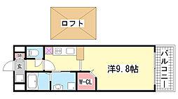 グランドオークKOBE北野[305号室]の間取り