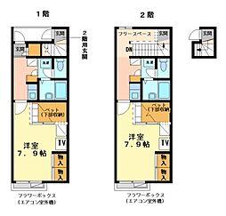 兵庫県神戸市西区天が岡の賃貸アパートの間取り