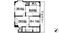 マナスハイツ[2階]の間取り