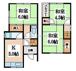 [一戸建] 大阪府八尾市中田2丁目 の賃貸【/】の間取り