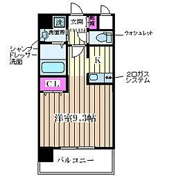 プロシード大阪西バロンドール[3階]の間取り