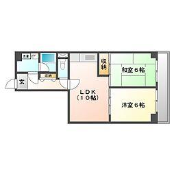 川崎セントラルコーポ[329号室]の間取り