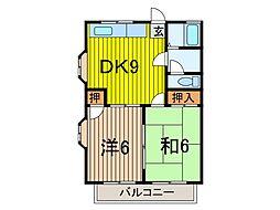 ハイムTOKIWA[2階]の間取り