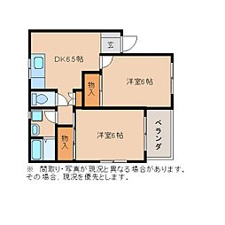静岡県静岡市葵区牧ケ谷の賃貸マンションの間取り