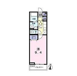 JR横浜線 新横浜駅 徒歩6分の賃貸マンション 1階1Kの間取り