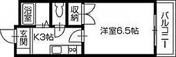 ピュア高須II[401号 号室]の間取り