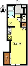 ドルフフジミB[1階]の間取り