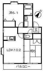 メゾベルツ[2階]の間取り