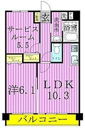 東京都足立区西伊興1丁目の賃貸マンションの間取り