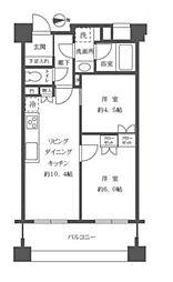 プレジール新宿大久保[310号室号室]の間取り
