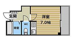 マンションオアシス[5階]の間取り