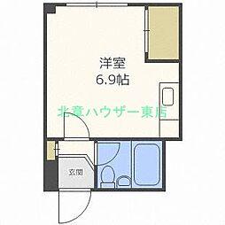 北海道札幌市北区北二十八条西12丁目の賃貸マンションの間取り